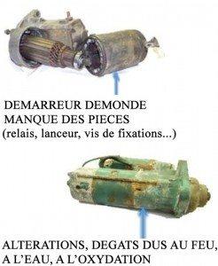 Démarreur démonde manque des pièces (relais, lanceur, vis de fixations...)